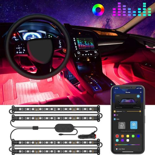 Car LED Strip Lights by Govee App Controlled