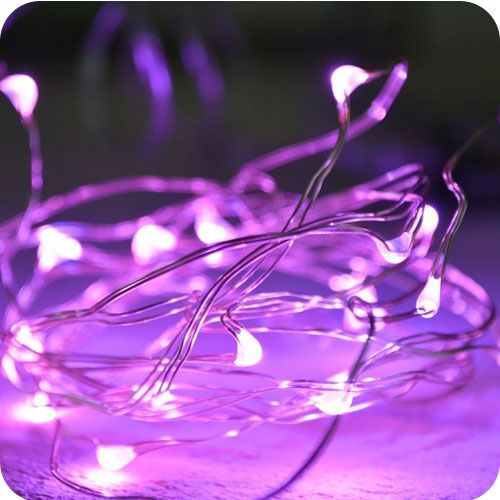 100 Pink LED - 5M Micro Fairy Lights on Silver Wire Multi Function Indoor&Outdoor