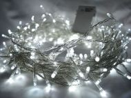 200 White LED Fairy Lights, 20M-Clear Cable,Battery Operated,Indoor & Outdoor