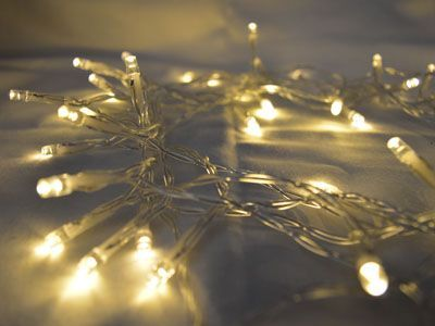Warm White 30 LED Fairy Lights, 3M-Clear Cable,Battery Operated