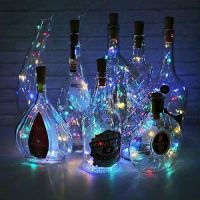 20 Multi Color LED Bottle Cork Fairy Lights Battery Operated (set of 6)