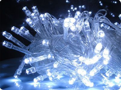 White 100 LED Fairy Lights, 10M-Clear Cable, Multi Action  (with controller), Indoor&Outdoor