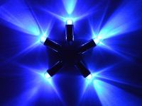 5 x Blue Single Led Battery Powered Lights Waterproof