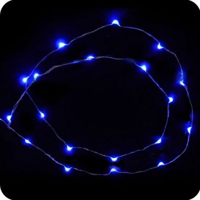 blue 20 led micro led fairy lights battery operated. Black Bedroom Furniture Sets. Home Design Ideas