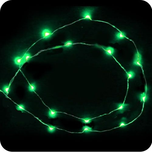 green 20 led micro led fairy lights battery operated. Black Bedroom Furniture Sets. Home Design Ideas