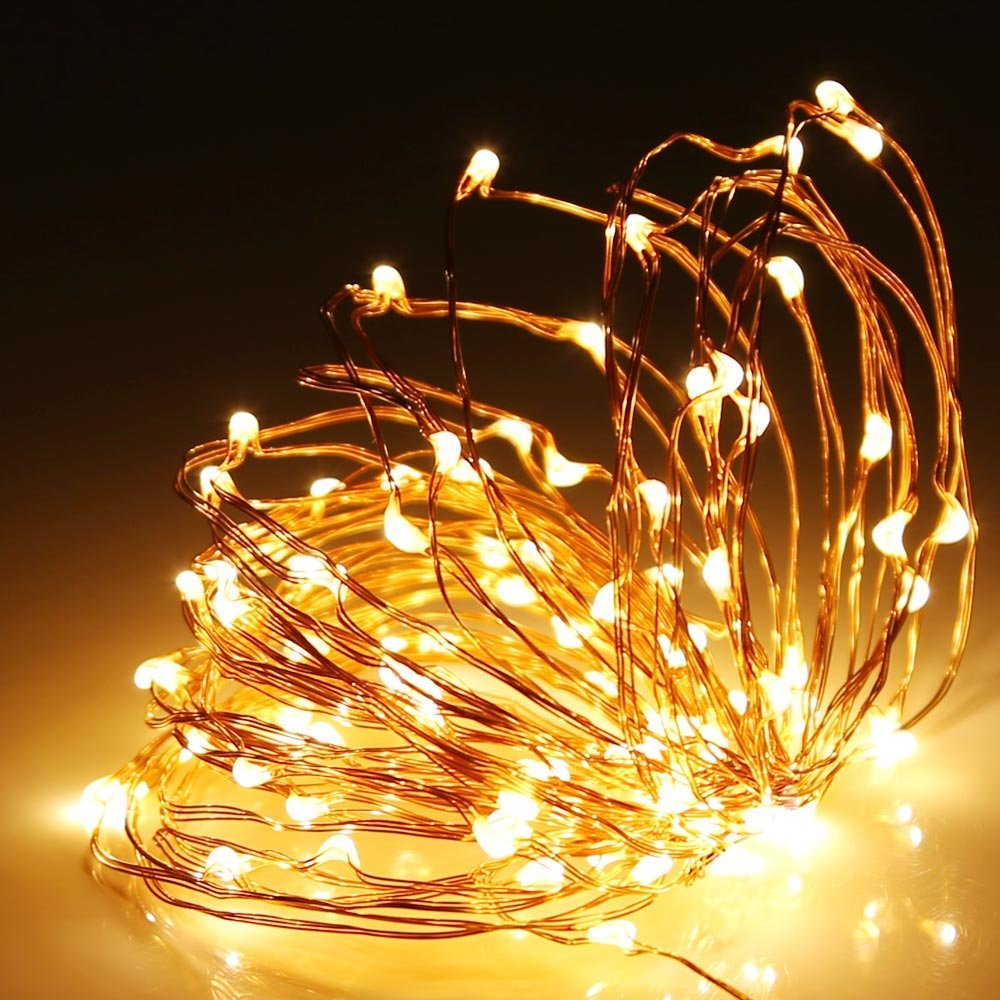 100 warm white led copper wire micro fairy lights with 5v adaptor click to enlarge aloadofball Image collections