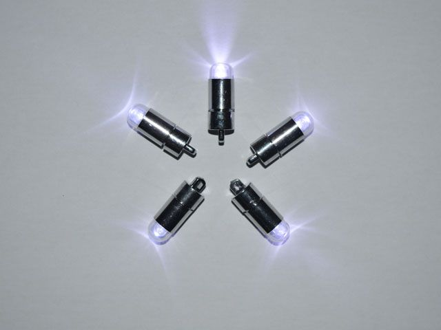 5 x white single led battery powered lights waterproof string 5 x white single led battery powered lights waterproof mozeypictures