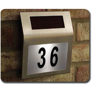 solar powered house number sign stainless steel 180 x 200 string led lights battery operated. Black Bedroom Furniture Sets. Home Design Ideas